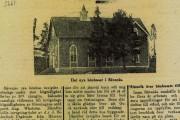 TIdningsurklipp om invigningen av Sävenäs bönhus