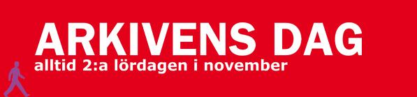 Logga: Arkivens dag, alltid andra lördagen i november.