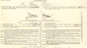 Hjalmar Höglunds biljett för att åka till Kanada 1904.