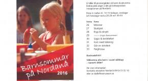 affisch med reklam för barnsommar på nordanå