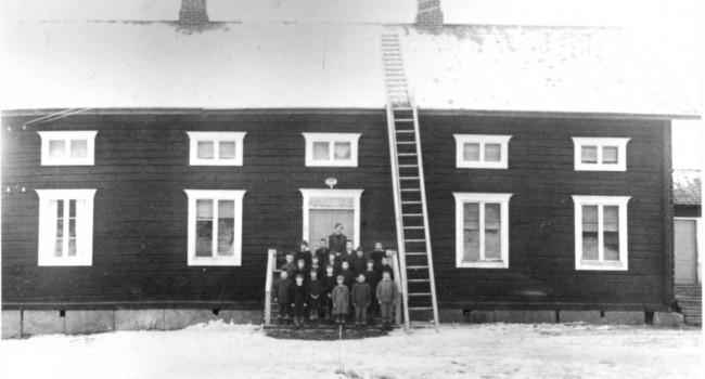 Fotografi som föreställer Vilhelmina arbetsstuga 1924.