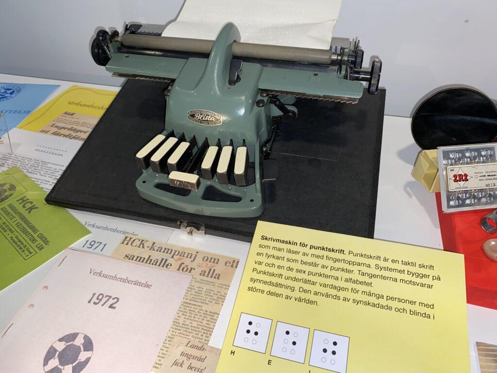 Punktskriftsmaskin inlånad av Medicinhistoriska museet